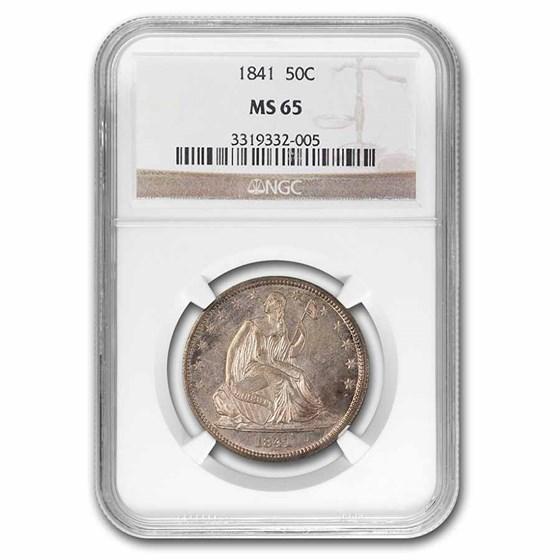 1841 Liberty Seated Half Dollar MS-65 NGC