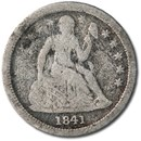 1841-O Liberty Seated Dime VG