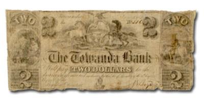 1841 Towanda Bank, Towanda, PA $2.00 PA-650, VG