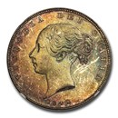 1842 Great Britain Silver Halfcrown Victoria MS-64 NGC