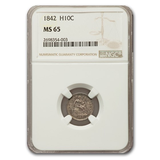 1842 Liberty Seated Half Dime MS-65 NGC