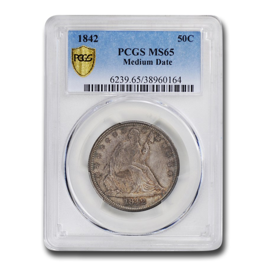 1842 Liberty Seated Half Dollar MS-65 PCGS (Medium Date)