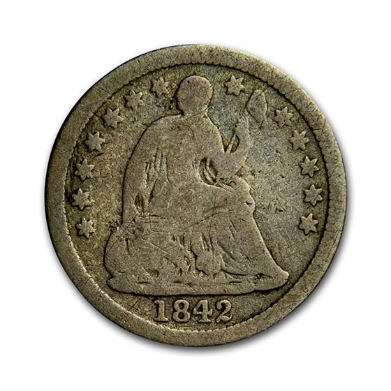 1842-O Liberty Seated Half Dime Good