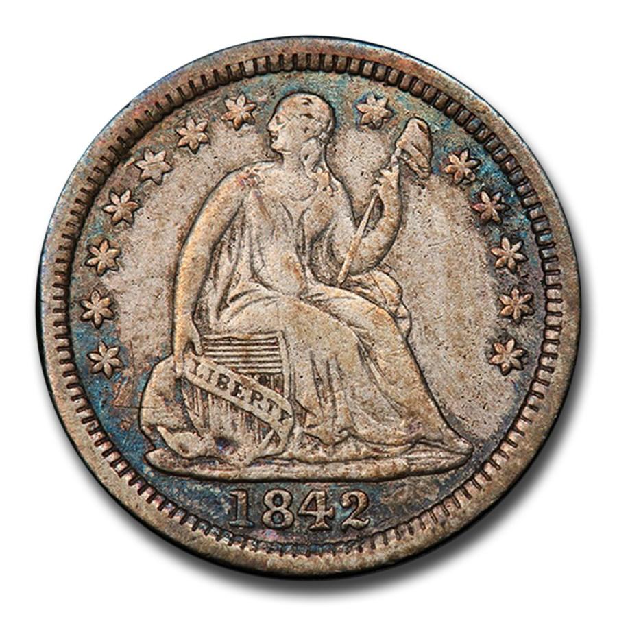 1842-O Liberty Seated Half Dime VF-30 PCGS