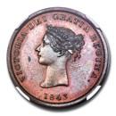 1843 Canada (New Brunswick) Copper Halfpenny PR-64 (Brown) NGC