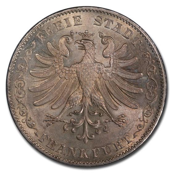 1843 German States Frankfurt am Main Silver 2 Thaler MS-64 PCGS