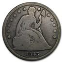 1843 Liberty Seated Dollar Good