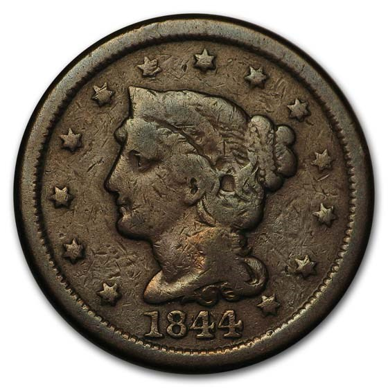 1844/81 Large Cent Good