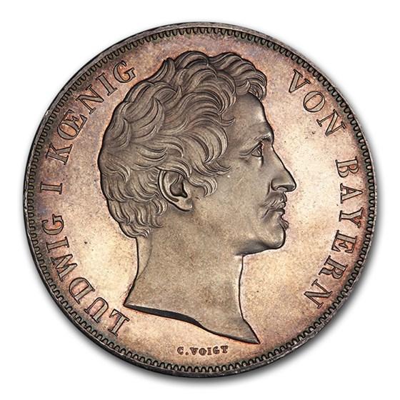 1844 German State Bavaria Silver 2 Thaler Ludwig I MS-63PL PCGS