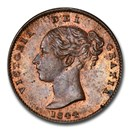1844 Great Britain Copper Third-Farthing MS-64 PCGS (Brown)