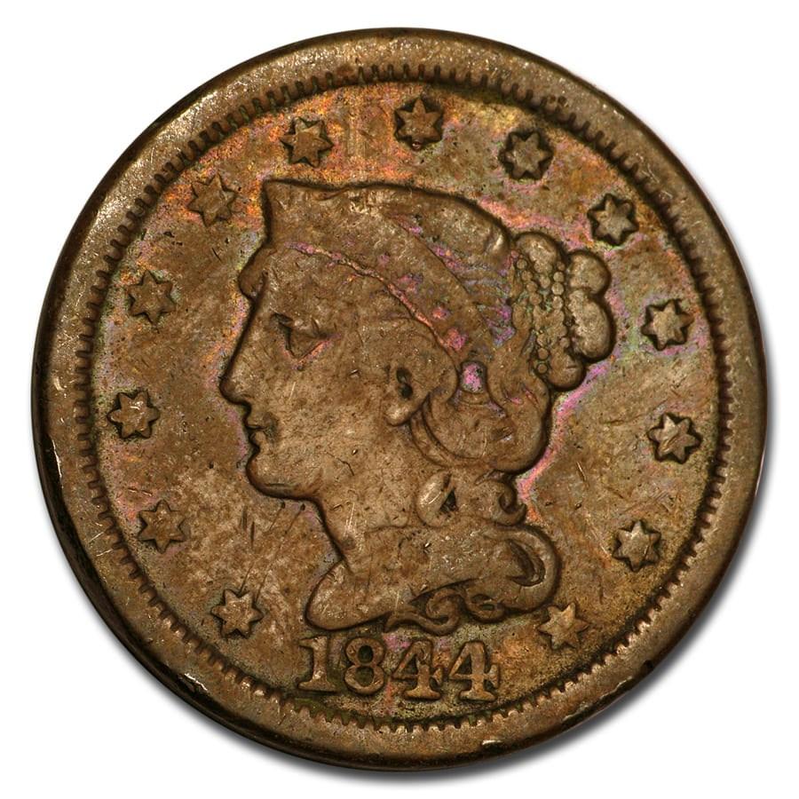 1844 Large Cent Fine