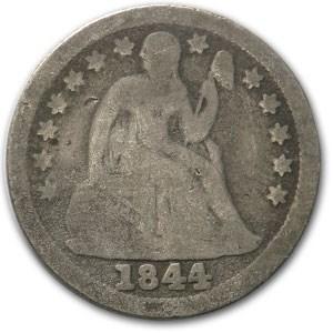 1844 Liberty Seated Dime Good-4