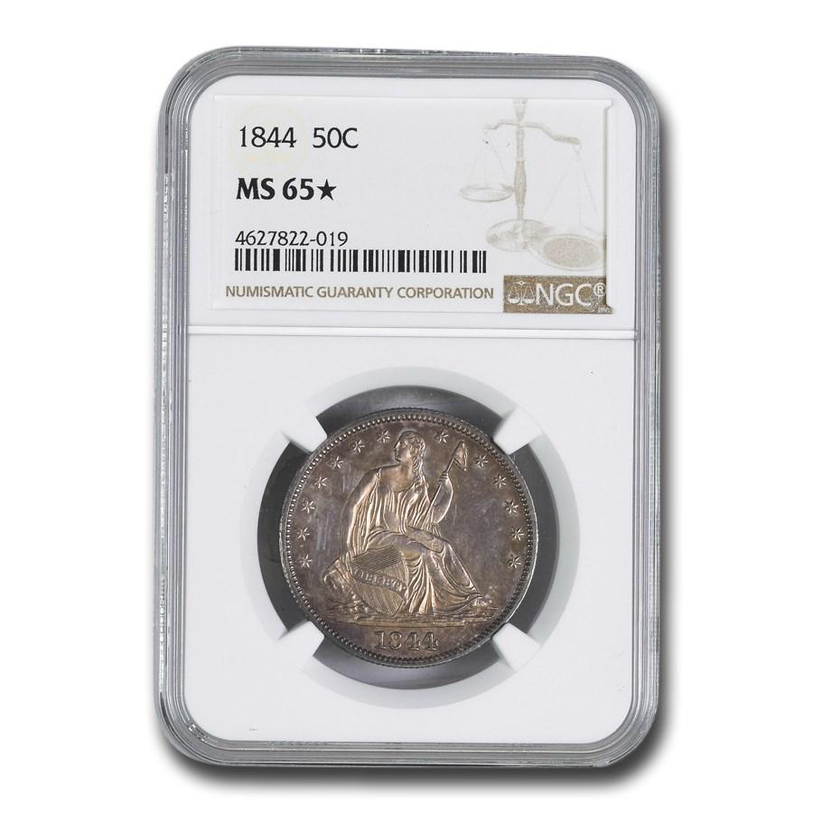 1844 Liberty Seated Half Dollar MS-65* NGC