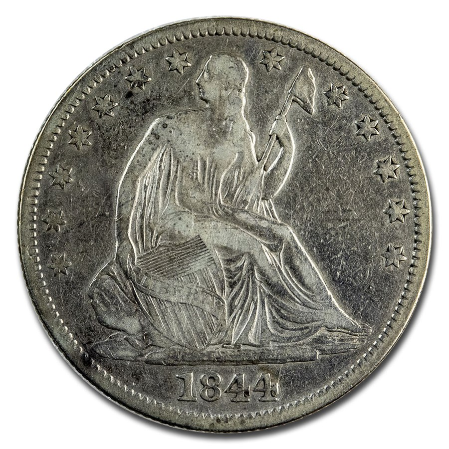 1844 Liberty Seated Half Dollar VF (Details)