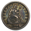 1844 Liberty Seated Quarter VF (Details)