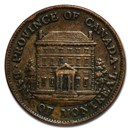 1844 Lower Canada 1 Sou Bank of Montreal Token VF