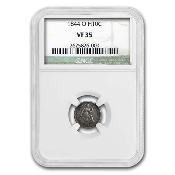 1844-O Liberty Seated Half Dime VF-35 NGC