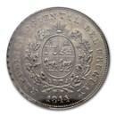 1844 Uruguay Silver One Peso, MS-62 NGC