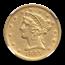 1845-D $5 Liberty Gold Half Eagle AU-53 NGC