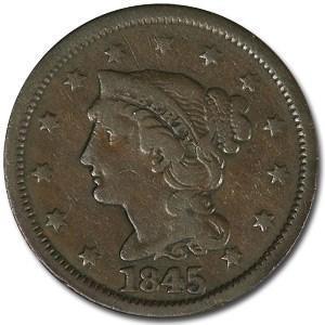 1845 Large Cent Fine
