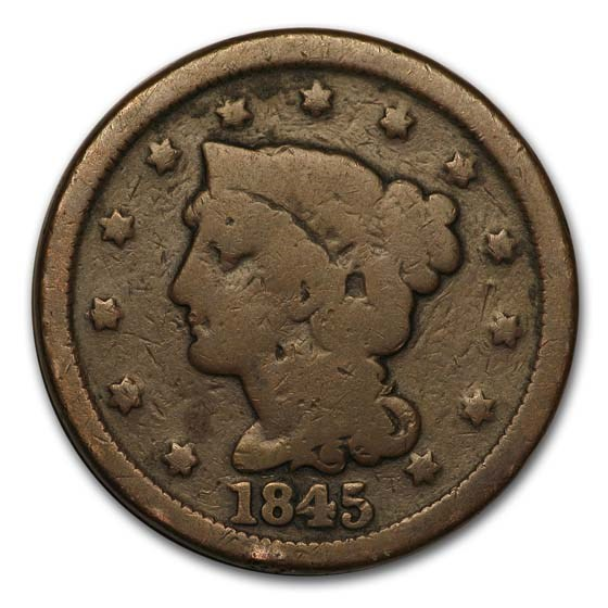 1845 Large Cent Good