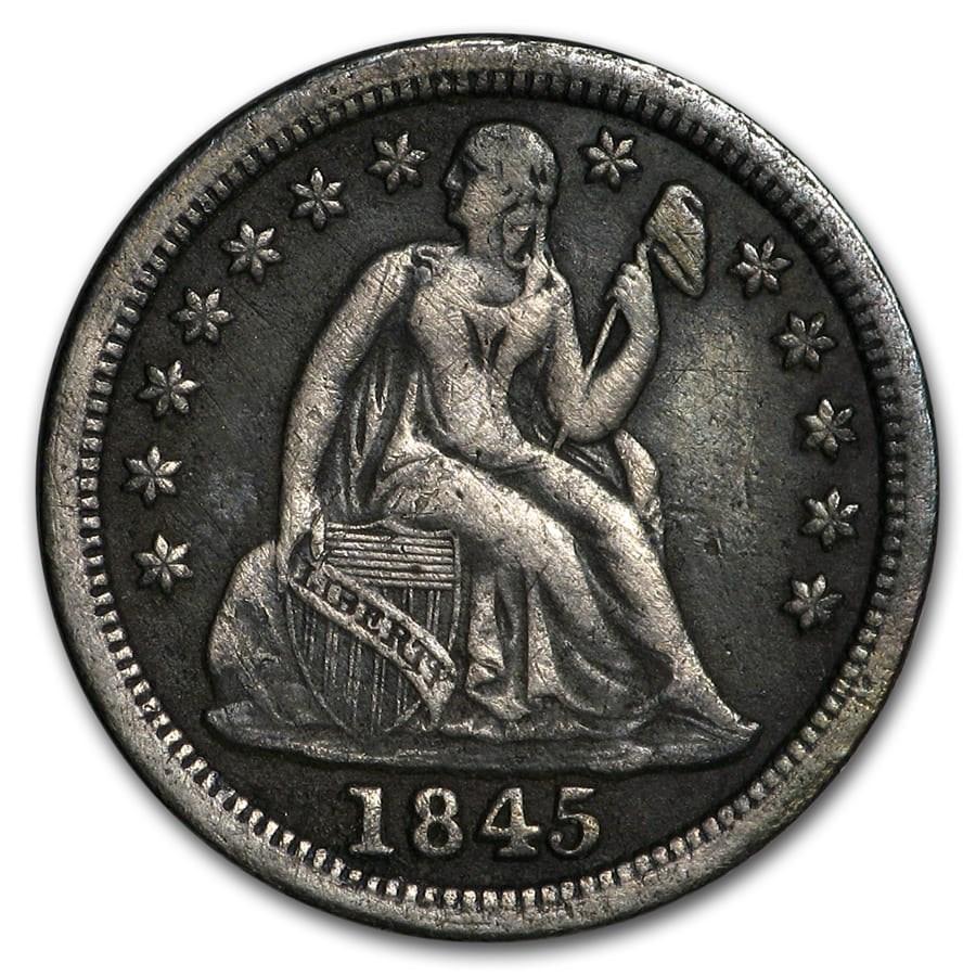 1845 Liberty Seated Dime XF
