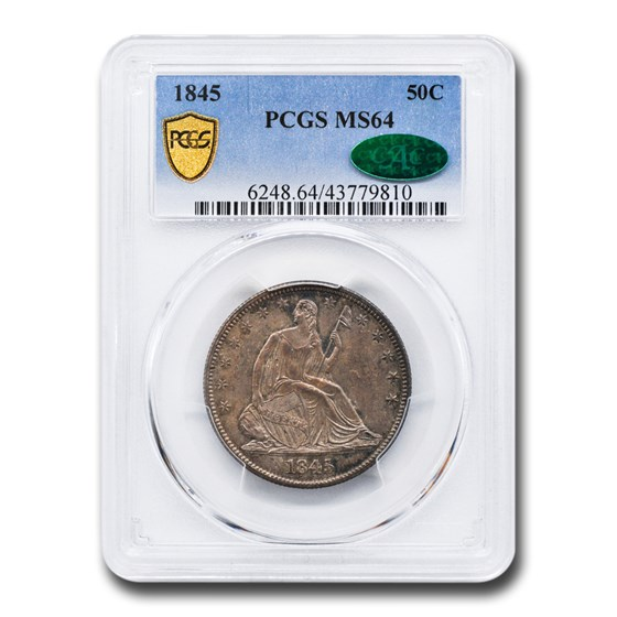 1845 Liberty Seated Half Dollar MS-64 PCGS CAC