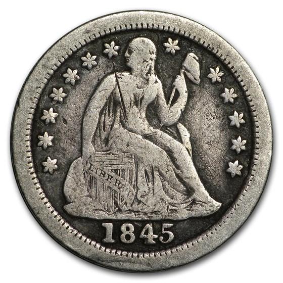 1845-O Liberty Seated Dime Fine