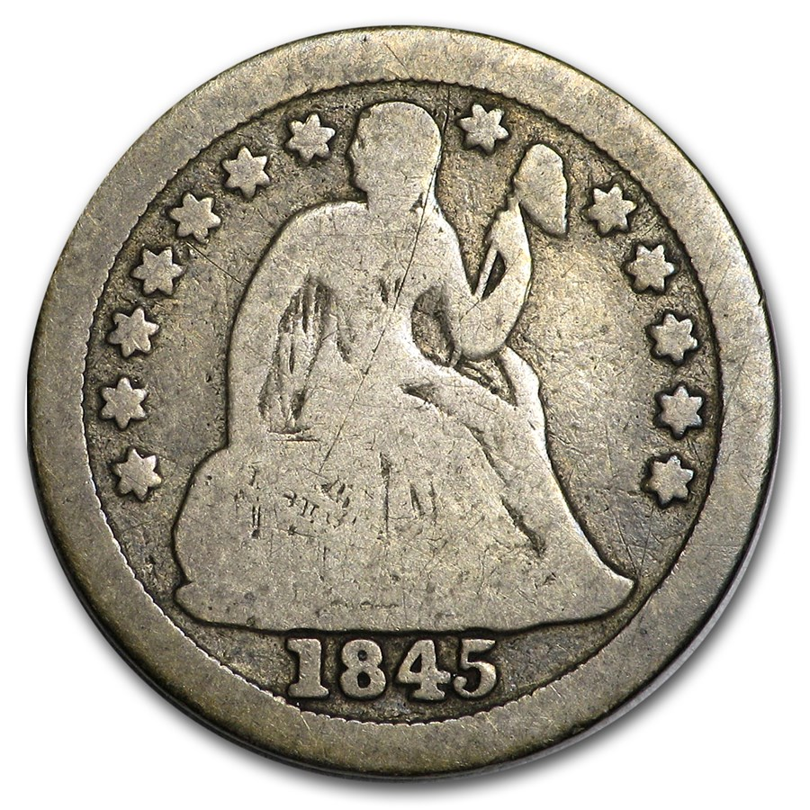 1845-O Liberty Seated Dime Good