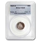 1845-O Liberty Seated Dime VF-25 PCGS