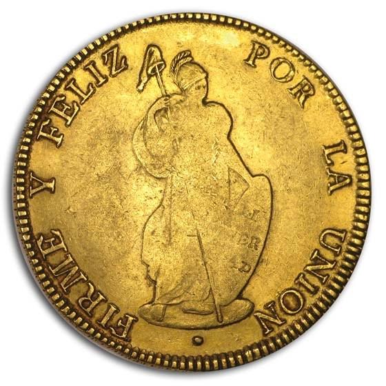 1845 Peru Gold 8 Escudos Fine