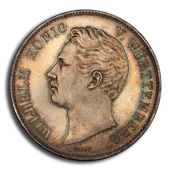 1846 German States Wurttemberg 2 Thaler 3-1/2 Gulden MS-66 PCGS