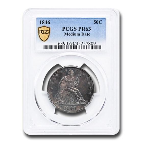 1846 Liberty Seated Half Dollar PR-63 PCGS (Medium Date)