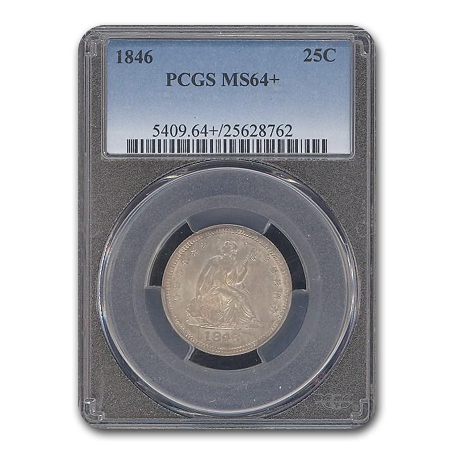 1846 Liberty Seated Quarter MS-64+ PCGS