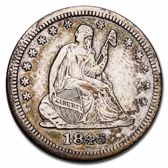 1846 Liberty Seated Quarter XF (Details)