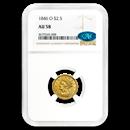 1846-O $2.50 Liberty Gold Quarter Eagle AU-58 NGC CAC