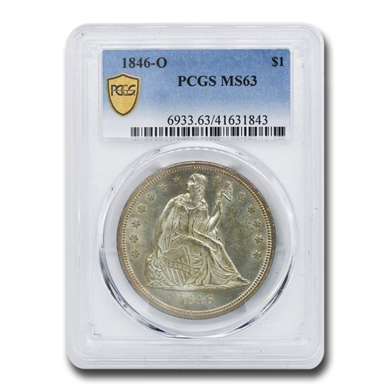 1846-O Liberty Seated Dollar MS-63 PCGS