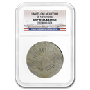 1846-ZS OM Mexico Silver 8 Reales (SS New York) Shipwreck Effect