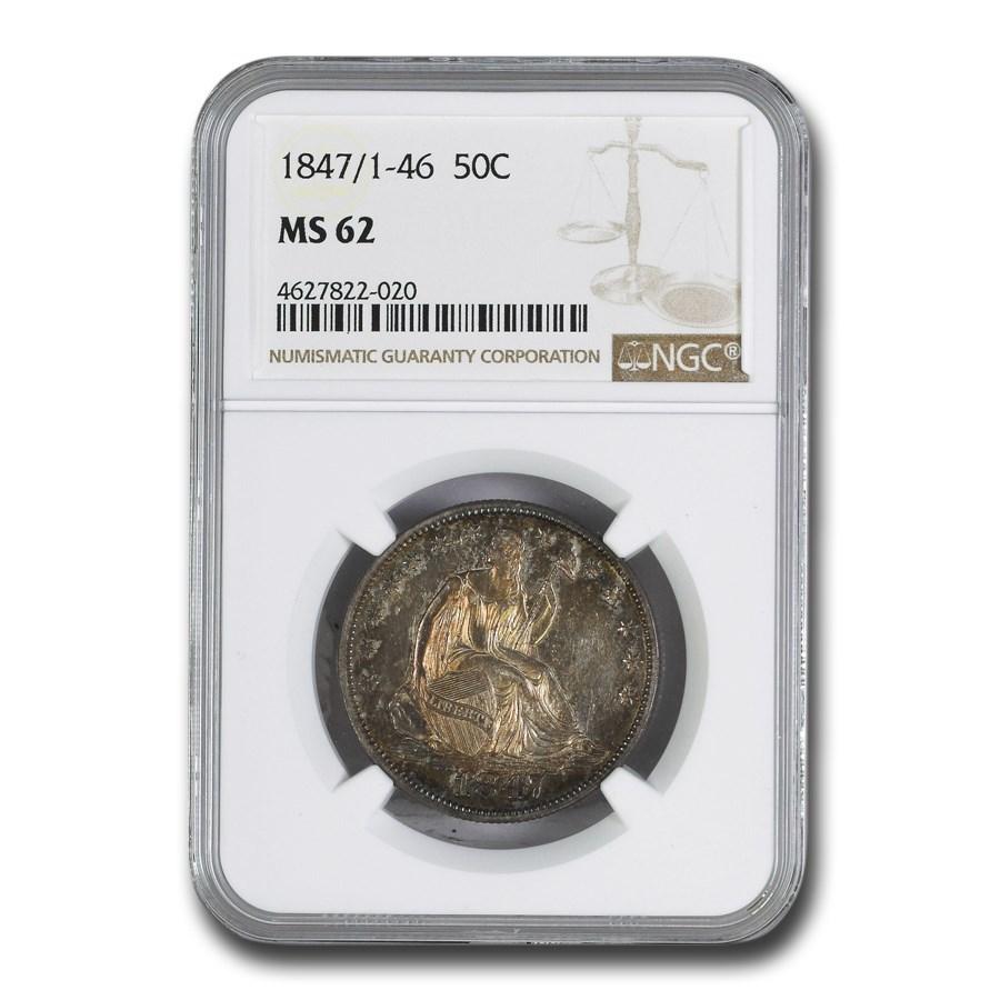 1847/1-46 Liberty Seated Half Dollar MS-62 NGC