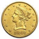 1847 $10 Liberty Gold Eagle XF