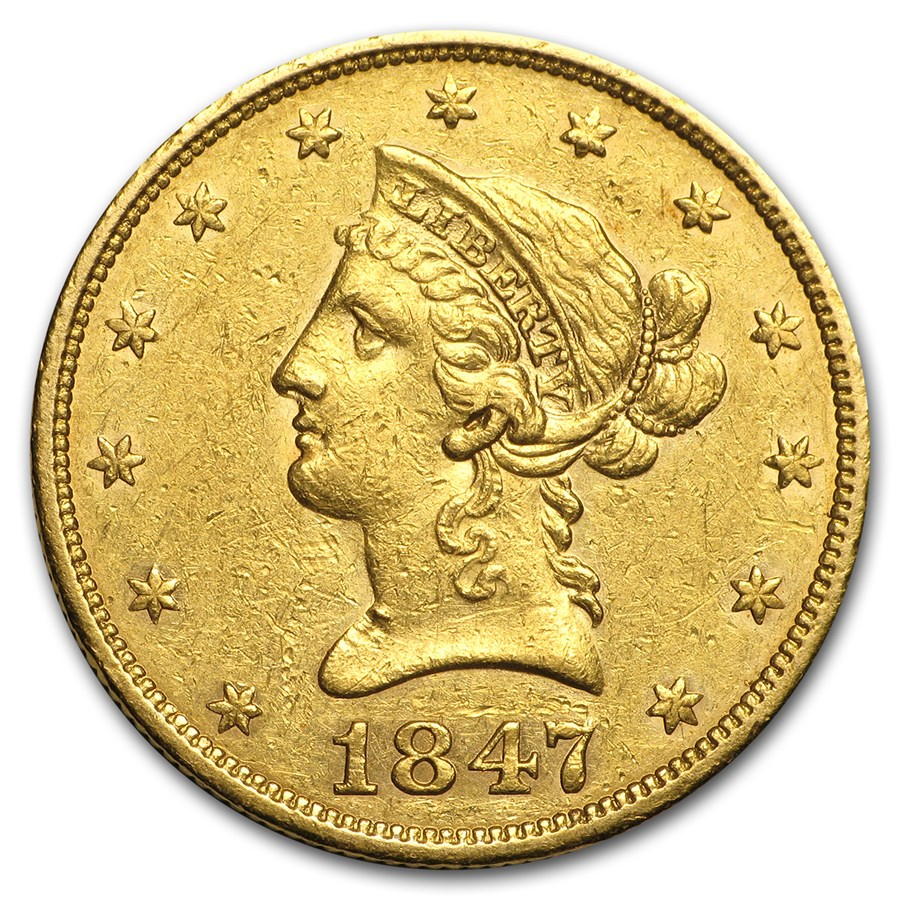 1847 $10 Liberty Gold Eagle XF