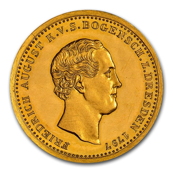 1847 German State Saxony-Albertine Gold Ducat PF-62 NGC (CA)