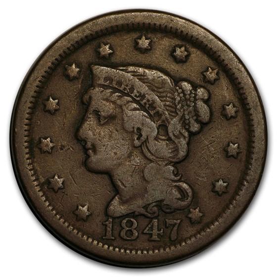 1847 Large Cent Fine