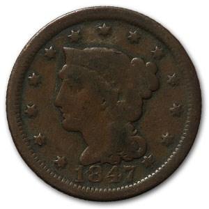 1847 Large Cent Good