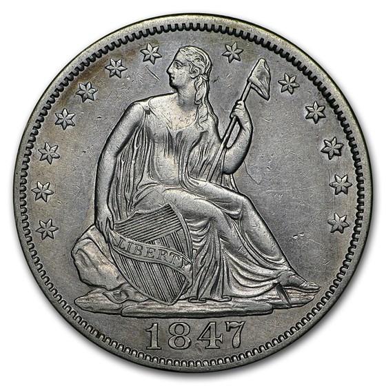 1847 Liberty Seated Half Dollar XF
