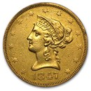 1847-O $10 Liberty Gold Eagle VF Details (Cleaned)