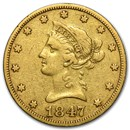 1847-O $10 Liberty Gold Eagle VG/VF