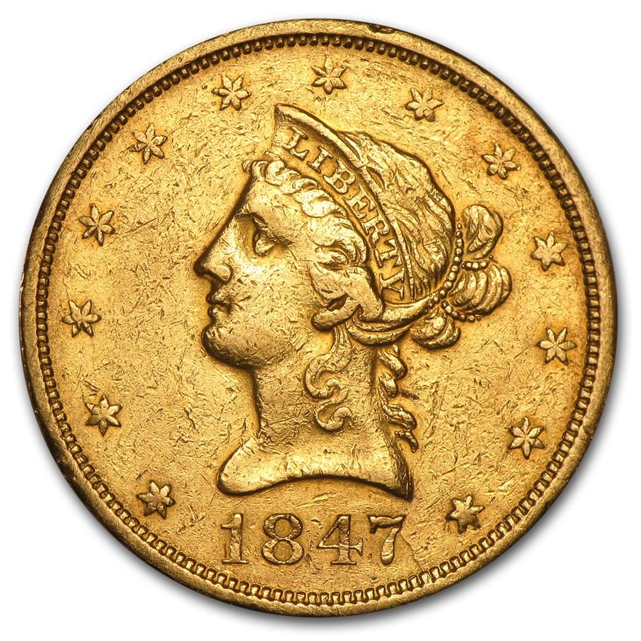 1847-O $10 Liberty Gold Eagle XF