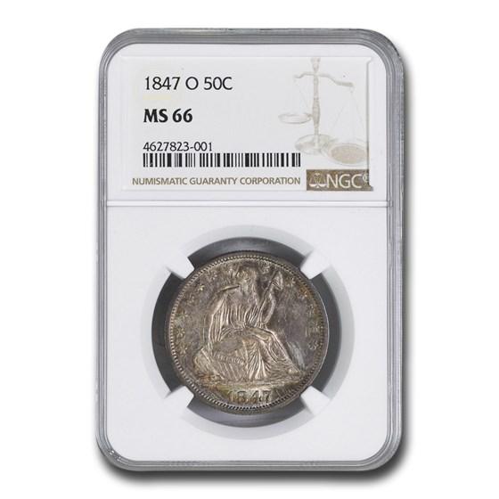 1847-O Liberty Seated Half Dollar MS-66 NGC
