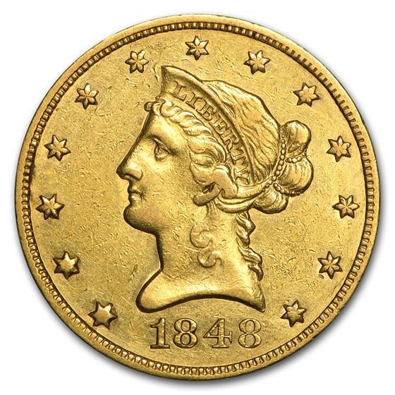 1848 $10 Liberty Gold Eagle XF